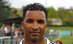 L'ancien défenseur de l'OM Habib Beye lors d'un match de charité en avril 2014.