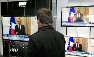 François Hollande a affirmé dans une brève allocution télévisée qu'il ignorait que son ministre lui avait menti.