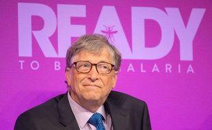 Bill Gates lors du sommet consacré au paludisme, à Londres, le 18 avril 2018.