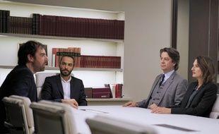 Grégory Montel, Assaad Bouab, Thibault de Montalembert et Camille Cottin dans «Dix pour cent».