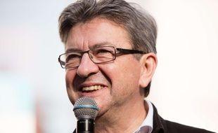 Jean-Luc Mélenchon, leader de La France insoumise, lors d'un meeting à Montreuil le 25 mai 2017.