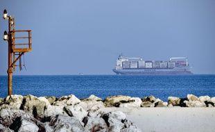 Le cargo danois «Alexander Maersk» au large des côtes siciliennes, le 25 juin 2018.