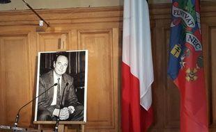 Le bureau de la maire de Paris, ce jeudi, après l'annonce du décès de Jacques Chirac
