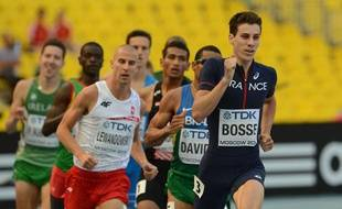 Le Français Pierre-Ambroise Bosse lors des séries du 800m lors des Mondiaux de Moscou, le 8 août 2013.