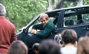 Jean-Paul Belmondo réalise une cascade sur le tournage de