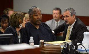 O.J. Simpson et ses avocats le 17 mai 2013