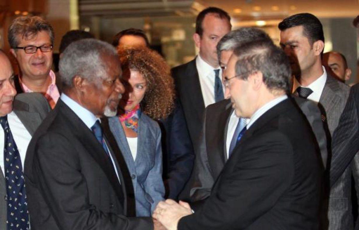 L'émissaire international Kofi Annan est arrivé à Damas où il doit notamment rencontrer le président syrien Bachar al-Assad pour tenter de trouver une issue au conflit en Syrie, qui a encore fait au moins 99 morts dimanche. –  afp.com