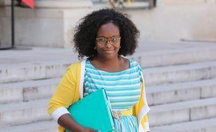 La porte-parole du gouvernement, Sibeth Ndiaye, à la sortie de l'Elysée, le 29 mai 2019.