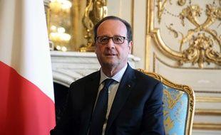 Le président François Hollande à l'Elysée le 28 novembre 2016