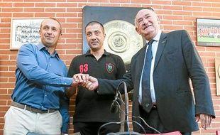 Philippe Saint-André, Mourad Boudjellal et Pierre Camou hier à Mayol.