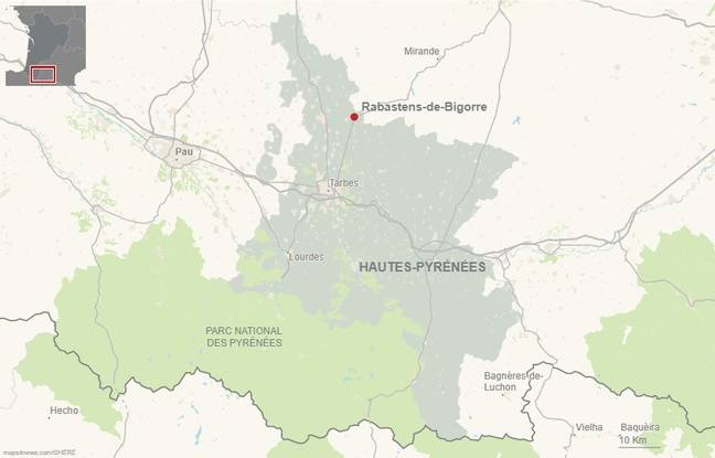 La commune de Rabastens-de-Bigorre, dans les Hautes-Pyrénées.