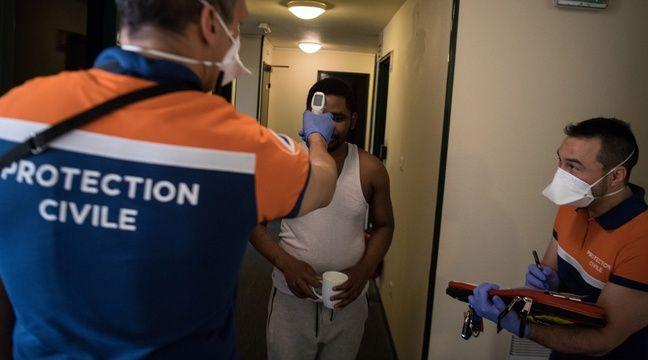 La Protection civile au chevet des migrants touchés par l'épidémie