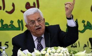 Le président de l'autorité palestinienne Mahmoud Abbas à Ramallah le 16 juin 2015