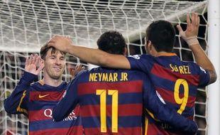 Le trio MSN du Barça, le 28 novembre 2015