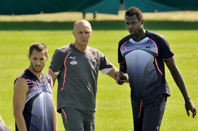Lilian Laslandes alors entraîneur des attaquants des Girondins de Bordeaux.