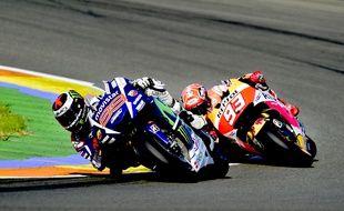 Jorge Lorenzo a devancé Marc Marquez au Grand Prix de Valence.