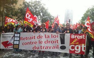 La manifestation du 14 juin à Paris contre la loi Travail.