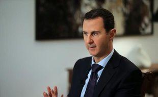 Le président syrien Bachar al-Assad, le 11 février 2016 à Damas lors d'une interview exclusive avec l'AFP