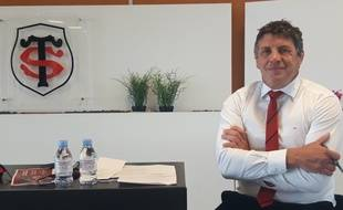 Didier Lacroix, le président du Stade Toulousain, le 3 juin 2020 au stade Ernest-Wallon.
