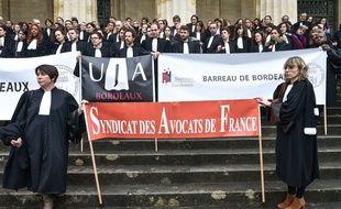 Grève des avocats à Bordeaux, le 15 février 2018.
