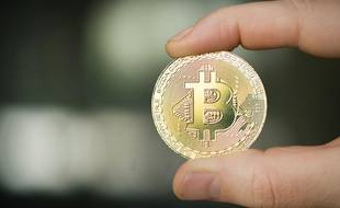 Un Bitcoin. Illustration.