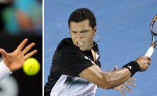 Le 26 janvier 2008, la finale de l'Open d'Australie opposera le Serbe Novak Djokovic (à g.) au Français Jo-Wilfried Tsonga.