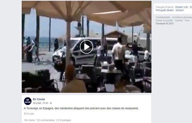 La vidéo est apparue sur Facebook dimanche soir.