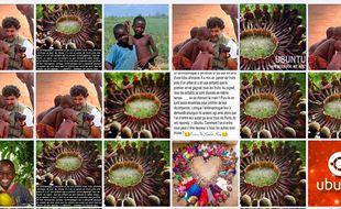 Quelques exemples de publications de la jolie, mais fictive histoire d'un anthropologue et d'enfants d'une tribu africaine.