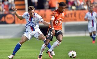 Le Lorientais Steven Moreira, ici contre Lyon le 24 septembre 2016.
