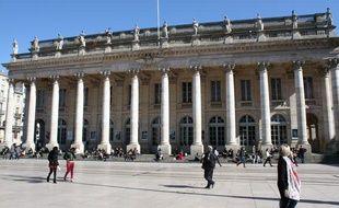 Le grand théâtre de Bordeaux.