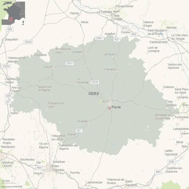Le drame s'est déroulé sur la petite commune gersoise de Pavie, près d'Auch.