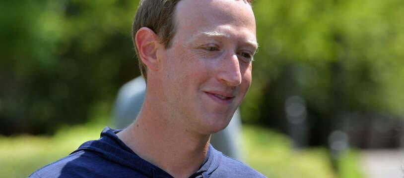 Mark Zuckerberg le 8 juillet 2021 dans Idaho