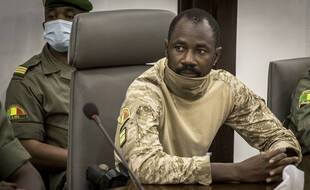 Le nouvel homme fort du Mali, le colonel Assimi Goïta, à Bamako le 22 août 2020.