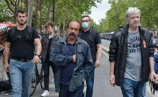 Le secrétaire général de la CGT, Philippe Martinez pendant la manifestation du personnel hospitalier à Paris le 30 juin 2020.