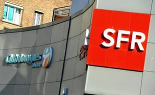 Les logos de Bouygues Telecom et de SFR