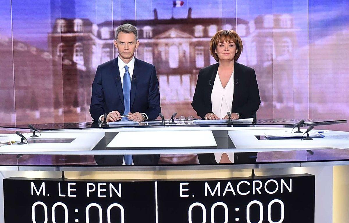 Christophe Jakubyszyn et Nathalie Saint-Cricq, mercredi, sur le plateau du débat. – CHAMUSSY/SIPA