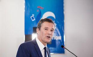 Nicolas Dupont-Aignan, le mercredi 9 janvier 2019, à son QG de campagne