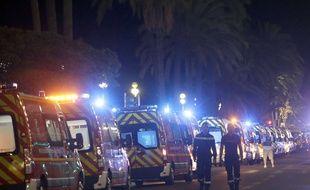 Deux pompiers mobilisés après l'attaque survenue à Nice.