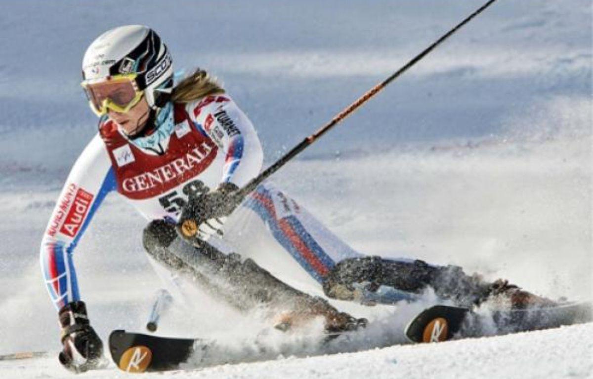Le 30novembre 2009, Barthet finit 6e du slalom d'Aspen, son meilleur résultat. –  N. BILOW/AP/SIPA
