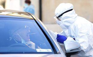 Un test de dépistage du nouveau coronavirus (Illustration)
