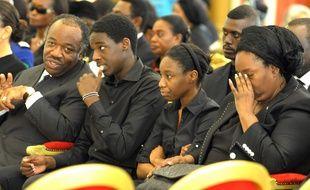 La famille Bongo, de gauche à droite: Ali, Omar Denis Junior, Yacine et Pascaline, à Libreville, au Gabon, le 15 juin 2009.