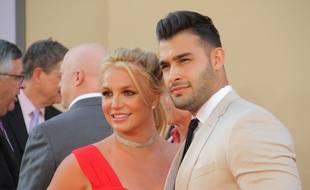 La chanteuse Britney Spears et son compagnon Sam Asghari à l'avant-première de Once Upon a Time... in Hollywood à Los Angeles