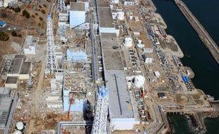 Vue aérienne de la centrale de Fukushima, datant du 24 mars 2011, quelques jours après sa destruction par un tsunami