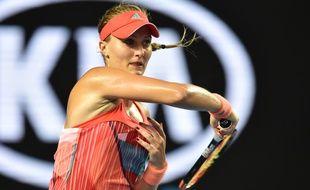 Kristina Mladenovic  contre Daria Gavrilova le 22 janvier 2016 pendant l'Open d'Australie