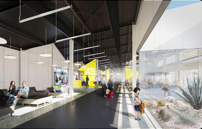 Nouvelle jetée créée pour les compagnies low cost à l'aéroport de Toulouse-Blagnac dès 2018.