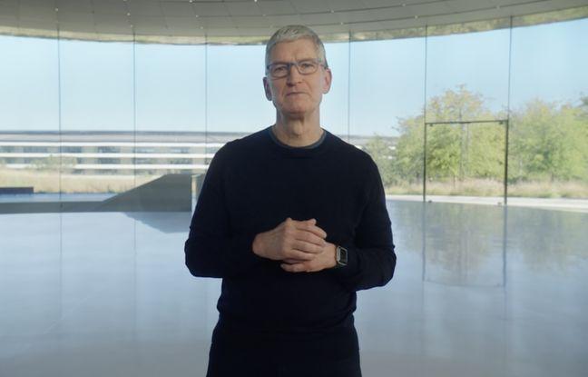 Tim Cook lors de la présentation des nouveaux iPhone 12.