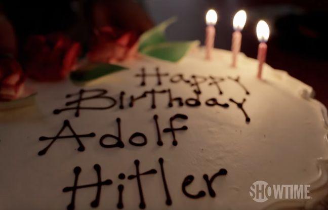 Le gâteau d'anniversaire de son fils, prénommé Adolf Hitler