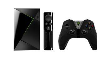 La nouvelle version de la Nvidia Shield TV, sa télécommande et sa manette pour 229 euros.