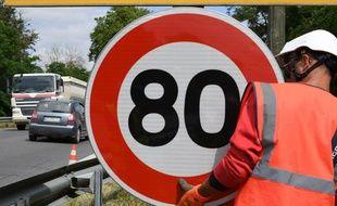La limitation à 80 km/h est entrée en vigueur le 1er juillet 2018.