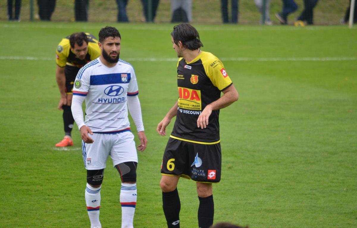 Nabil Fekir a été bien bloqué par la défense de Chasselay ce samedi. – Jérémy Laugier/20 Minutes